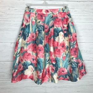 EVERLY FLORAL SKIRT